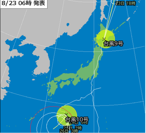 23日6時台風予測