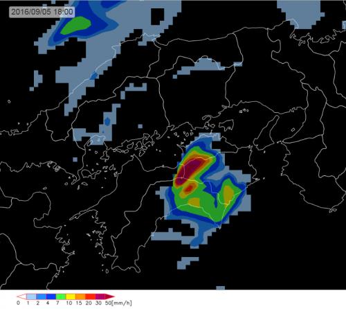 20160905_5日18時雨域予測(四国)