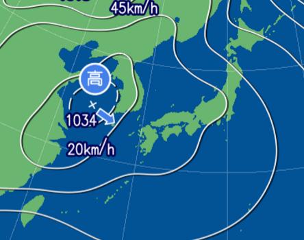 1月26日9時予想天気図