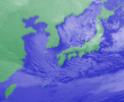 1月14日3時気象衛星画像