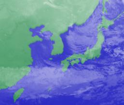 1月13日3時気象衛星画像