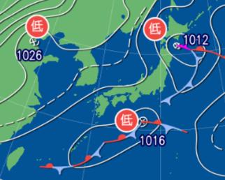 1月19日9時予想天気図