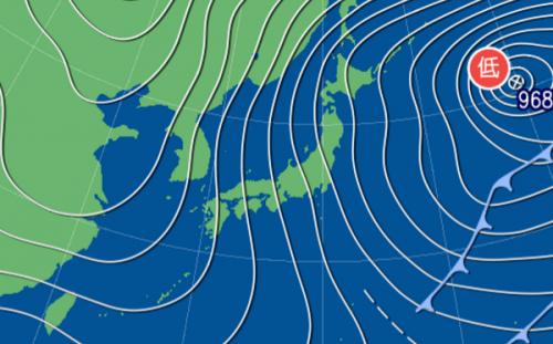 1月15日9時予想天気図