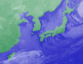 1月31日3時気象衛星雲画像