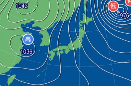 1月24日9時予想天気図