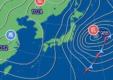 1月21日9時予想天気図