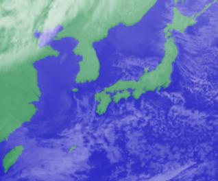 1月26日3時気象衛星雲画像