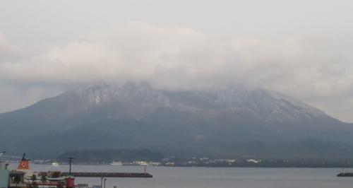 20日桜島雪化粧