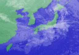 1月19日3時気象衛星雲画像
