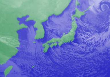 1月24日3時気象衛星雲画像
