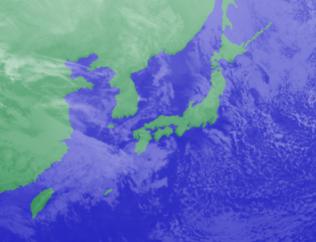 1月18日3時気象衛星雲画像