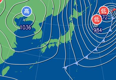 2月21日9時の予想天気図