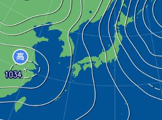 2月12日9時の予想天気図