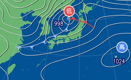 2月20日9時の予想天気図