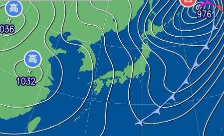 2月24日9時の予想天気図