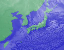 2月12日3時のひまわり雲画像