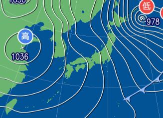 2月2日9時予想天気図