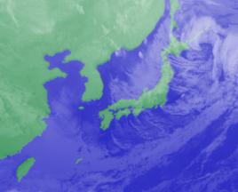 2月2日3時気象衛星雲画像
