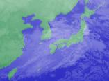 2月9日3時の気象衛星雲画像