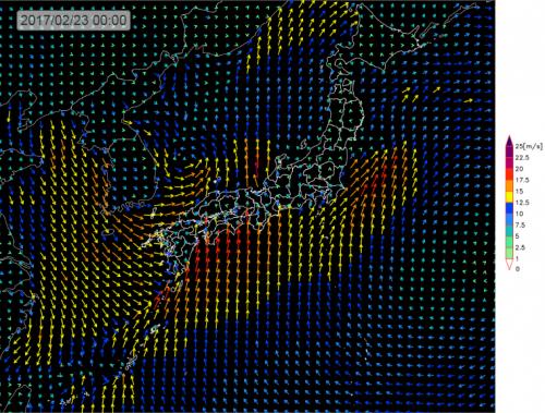 20170222_23日0時_風予測