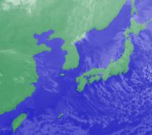 2月15日3時のひまわり雲画像