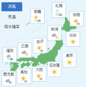 2月4日の天気予報