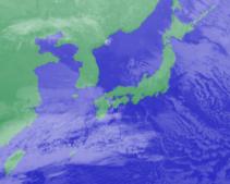 2月4日3時気象衛星雲画像