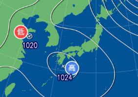 2月4日9時の予想天気図