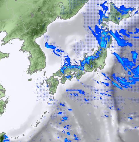 2月12日12時のレーダー降水予測