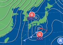 2月9日9時の予想天気図