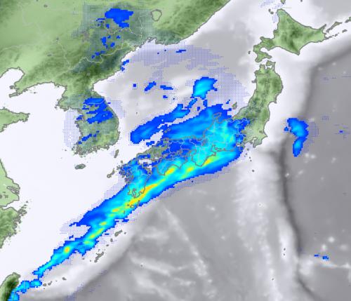 2月5日12時雨雲の予想