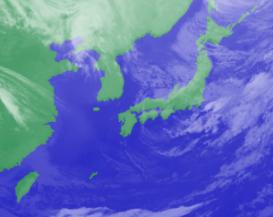 2月19日3時のひまわり雲画像