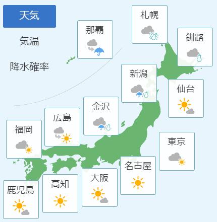 2月24日の天気予報