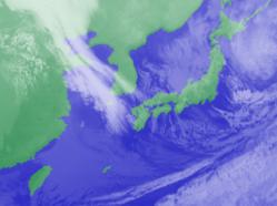 2月7日3時気象衛星雲画像