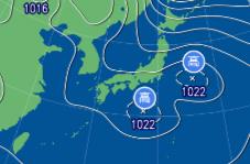 3月4日9時の予想天気図