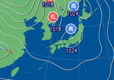 3月12日9時の予想天気図