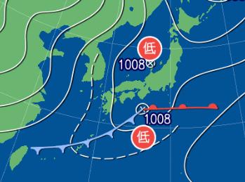 3月6日9時の予想天気図