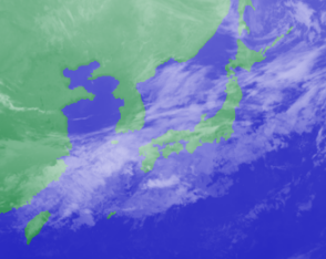 3月6日4時のひまわり雲画像