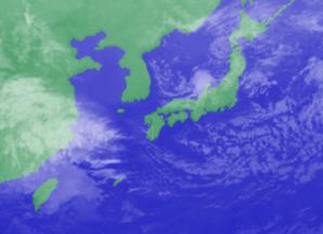 3月10日3時のひまわり雲画像