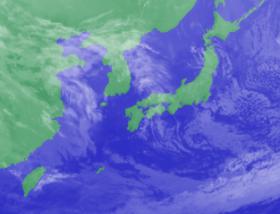 3月12日3時のひまわり雲画像