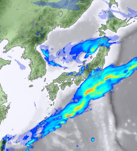 3月6日15時の降水予測